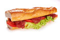 Deli sandwich isolated on white background Royalty Free Stock Photo