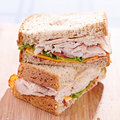 Deli turkey club sandwhich Royalty Free Stock Photo