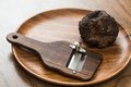 Delicacy mushroom black truffle rare and expensive vegetable Royalty Free Stock Photo