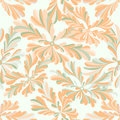 Delicate abstract flowers seamless pattern on a white background Royalty Free Stock Photo