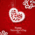 Delicate applique abstract Valentine card Royalty Free Stock Photography