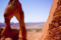 Delicate Arch Formation in Arches national Park Royalty Free Stock Photos