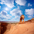 Delicate arch landscape arches national park utah usa Stock Photos