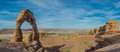 Delicate Arch Panorama Royalty Free Stock Photo
