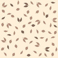 Delicate autumn vintage style background. Creative vector seamless pattern with leaves Royalty Free Stock Photo