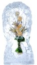 Delicate bouquet of flowers in the ice Royalty Free Stock Photos