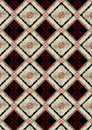Delicate checkered seamless background with red pattern Stock Image