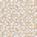 Delicate color brown mosaic tile wall background Royalty Free Stock Photos