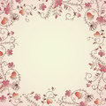 Delicate flower border Royalty Free Stock Photography