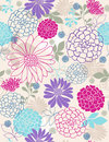 Delicate Flowers Seamless Repeat Pattern Royalty Free Stock Photo