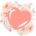 Delicate heart-shaped frame Royalty Free Stock Photography
