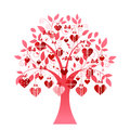 Delicate heart tree with hears and coil branches Royalty Free Stock Photography