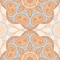 Delicate lace seamless pattern background with circle ornament Stock Image