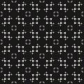 Delicate ornamental texture, vector monochrome seamless pattern