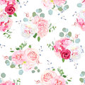 Delicate seamless vector print on white background.