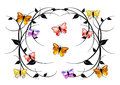 Delicate swirls, colorful butterflies Royalty Free Stock Photo
