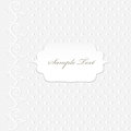 Delicate vintage card white grey colors Royalty Free Stock Images