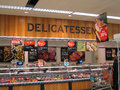 Delicatessen in a superstore department large supermarket this is the sainsburys store at bedford england united kingdom Royalty Free Stock Photos