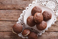 Delicious american whoopie pie dessert horizontal top view on the table Royalty Free Stock Images