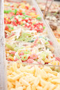 Delicious assortement of sweets on market Stock Photo