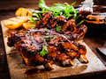 Delicious barbecued ribs Royalty Free Stock Photo