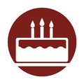 Delicious cake brithday with candles Royalty Free Stock Photo