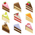 Delicious Cake Slices Stock Photo