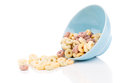 Delicious Cheerios Oat Cereal in bowl Royalty Free Stock Photo