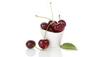 Delicious cherries in bowl. Royalty Free Stock Photo