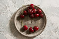 Delicious cherries, overhead Royalty Free Stock Photo