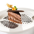 Delicious chocolate cake with physalis Stock Image
