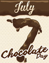 Delicious Chocolate Cream Design to Celebrate Chocolate Day, Vector Illustration