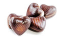 Delicious  chocolate hearts Stock Photography