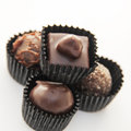 Delicious chocolate pralines Stock Images