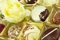 Delicious chocolate pralines Royalty Free Stock Photos