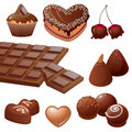 Delicious chocolate sweets collection Stock Photos