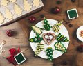 Delicious Christmas gingerbread cookies. Royalty Free Stock Photo