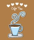 Delicious coffee design illustration eps graphic Royalty Free Stock Images