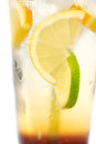 Delicious cold lemonade in a tall glass Royalty Free Stock Image