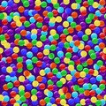 Delicious colorful candies seamless background Stock Photos