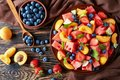 Fresh Fruit Salad On A Plate