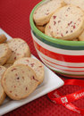 Delicious cranberry and pecan shortbread cookies Stock Image