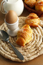 Delicious croissants breakfast with Royalty Free Stock Image