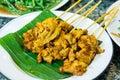 Delicious cuisine food toast curry pork satay sate Stock Photography