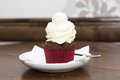 Delicious cupcake with cream and whipped Royalty Free Stock Photos