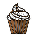 Delicious cupcake isolated icon