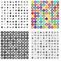 100 delicious dishes icons set vector variant Royalty Free Stock Photo
