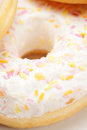 Delicious donut closeup with glazing photo Royalty Free Stock Images