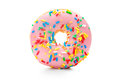 Delicious donut with sprinkles isolated on white background Royalty Free Stock Photography