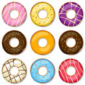 Delicious Donuts Collection Stock Photo